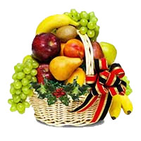 Birthday Gifts to Chinchwad - An exclusive 2 Kg Fresh Fruits Basket with green fillers