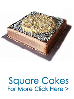 Send Cakes to India : Square Cakes to India