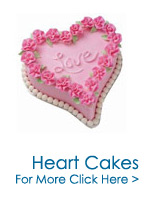 Cakes to India : Heart Shape Cakes to India