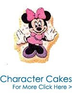 Cakes to India : Barbie Doll Cakes : Mickey Mouse Cakes : Character Cakes to India