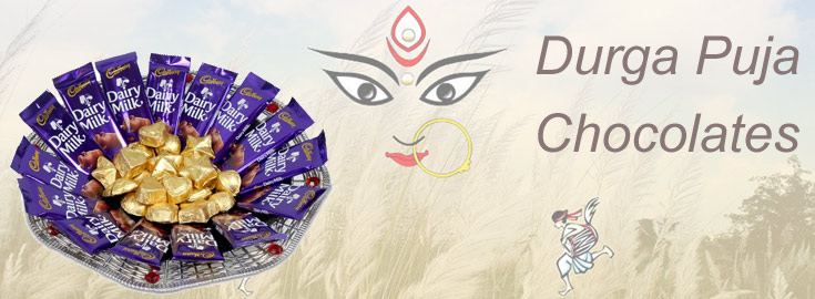 Durga Puja Chocolates to India