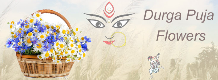 Send online Durga Puja Flowers to India