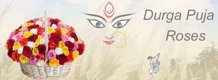 Durga Puja Roses to India