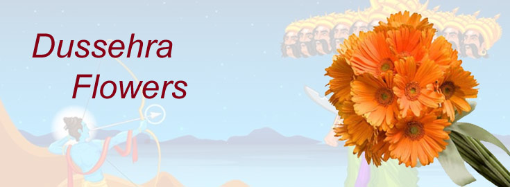 Dussehra Flowers to India