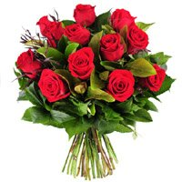 Order Red Roses Bouquet 10 Flowers Delivery in India