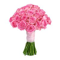 Pink Roses Bouquet 50 Flowers Delivery in India