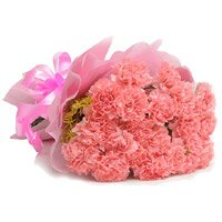 Bouquet of 36 pink carnation - Wedding Flowers