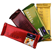 Send 4 Cadbury Temptation Bars Chocolates to India on Rakhi