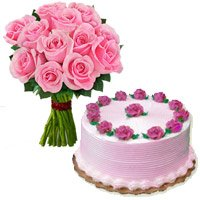 Pink Roses And Cakes To Khammam