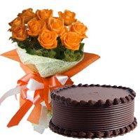 Send Flowers Cakes to Shimoga