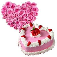 Send Heart Shape Flowers to Delhi