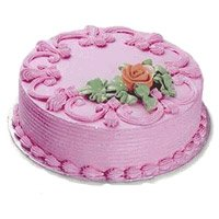 Eggless Cake Delivery in India - Strawberry Cake From 5 Star