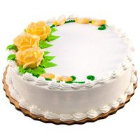 Send Eggless Valentine's Day Cakes to India - Vanilla Cake From 5 Star