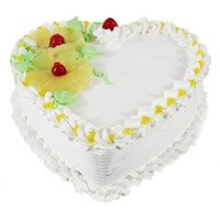 Best Eggless Cake Delivery in India - Pineapple Heart Cake