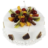 Rakhi with Online Cake Delivery of 3 Kg Fruit Cakes in India From 5 Star Hotel