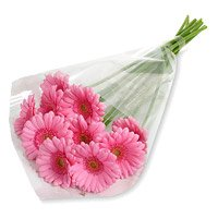 Bouquet of 12 pink gerbera - Wedding Flowers to India