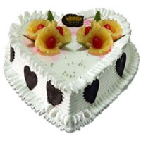 Heart Shaped Wedding Cake Delivery to India
