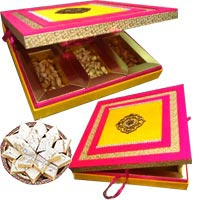 250 gm kaju katli with fancy dry fruit box of mix dry fruit