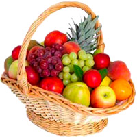 Basket of 4 kg mix fresh fruits