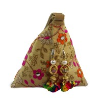 Send Rakhi Gift For Sister Small Tansel Potli Style Coin Bag in India