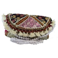 Send Rakhi Gift to India White Ethnic Embroidery Sling Bag For Sister