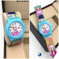 Send Sky-Blue Barbie Kids Watch for kid sister online to India