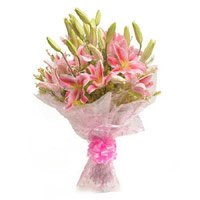 Flower Delivery India : Pink Lilies