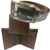 Deliver Rakhi Gifts for Brother Gents Wl Belt And Wallet