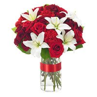 New Born Flower Delivery India : Mix Flower in Vase
