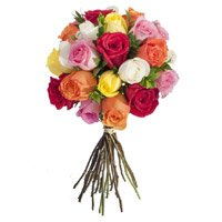 Online Send Mixed Roses Bouquet 24 Flowers