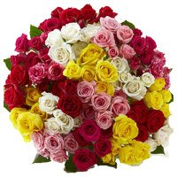 Buy Online Mixed Rose Bouquet 100 Flowers