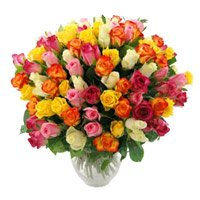 Mixed Roses Bouquet 50 Flowers Delivery in India