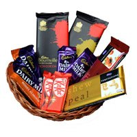 Basket of Chocolate to India