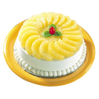 Send Cakes to India - Pineapple Cake From 5 Star
