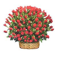 Send Red Roses Basket 250 Flowers to India
