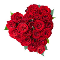 Flower Delivery in Delhi in Heart Shape Arrangement