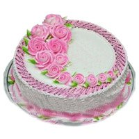 Send Eggless Cakes to India - Strawberry Cake