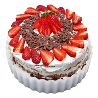 Wedding Cake Delivery in India - Strawberry Cake From 5 Star