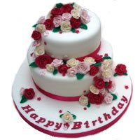 Two Tier Eggless Vanilla Cake Delivery In India