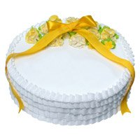 Online Eggless Cake Delivery in India - Vanilla Cake