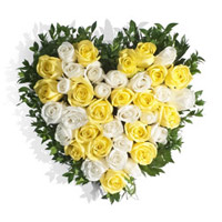 Send Heart Shape Flowers to India