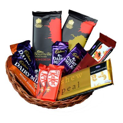 Send Diwali Gifts to Tirupur with Basket of Assorted Chocolates