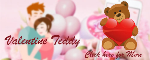 Valentine's Day Teddy to Hyderabad